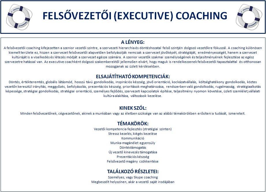 felsővezetői coaching